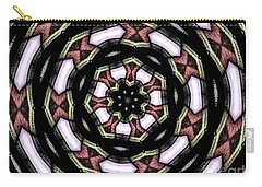Stained Glass Kaleidoscope 12 Carry-all Pouch by Rose Santuci-Sofranko