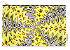 Stained Glass Kaleidoscope 18 Carry-all Pouch by Rose Santuci-Sofranko