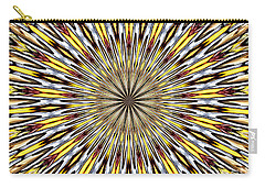 Stained Glass Kaleidoscope 22 Carry-all Pouch by Rose Santuci-Sofranko