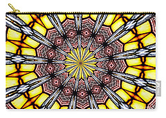 Stained Glass Kaleidoscope 23 Carry-all Pouch by Rose Santuci-Sofranko