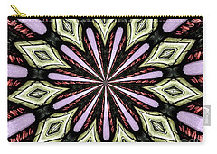 Stained Glass Kaleidoscope 25 Carry-all Pouch by Rose Santuci-Sofranko