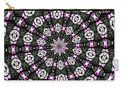 Stained Glass Kaleidoscope 3 Carry-all Pouch by Rose Santuci-Sofranko