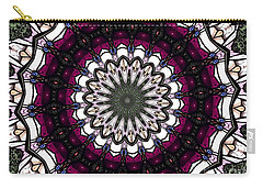 Stained Glass Kaleidoscope 4 Carry-all Pouch by Rose Santuci-Sofranko