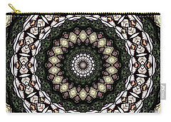 Stained Glass Kaleidoscope 6 Carry-all Pouch by Rose Santuci-Sofranko