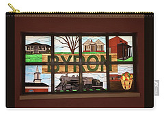 Carry-all Pouch featuring the photograph Stained Glass Land Marks by Aaron Martens