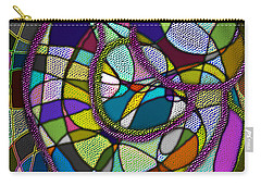 Carry-all Pouch featuring the digital art Stained Glass Mother And Child by Iowan Stone-Flowers
