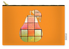 Stained Glass Pear Carry-all Pouch