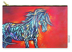 Stained Glass Stallion Carry-all Pouch