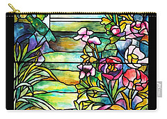 Stained Glass Tiffany Robert Mellon House Carry-all Pouch by Donna Walsh