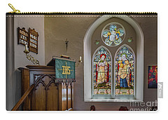 Carry-all Pouch featuring the photograph Stained Glass Uk by Adrian Evans
