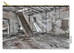 Carry-all Pouch featuring the photograph Stair In Old Abandoned  Building by Michal Boubin