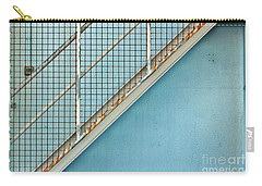 Stairs On Blue Wall Carry-all Pouch
