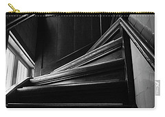 Carry-all Pouch featuring the photograph Stairway In Amsterdam Bw by RicardMN Photography