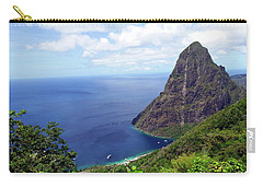 Carry-all Pouch featuring the photograph Stairway To Heaven View, Pitons, St. Lucia by Kurt Van Wagner