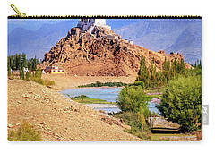 Carry-all Pouch featuring the photograph Stakna Monastery by Alexey Stiop