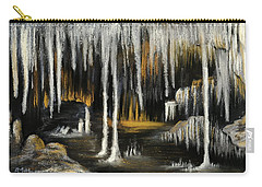 Carry-all Pouch featuring the painting Stalactite Cave by Anastasiya Malakhova