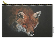 Red Fox In Stalking Mode Carry-all Pouch
