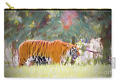 Carry-all Pouch featuring the painting Stalking Tiger by Judy Kay