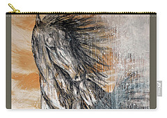 Carry-all Pouch featuring the painting Stallion Fury by Jennifer Godshalk