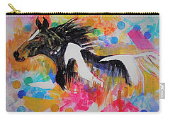 Stallion In Abstract Carry-all Pouch