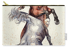 Stallion Showdown Carry-all Pouch by Margaret Stockdale