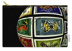 Stamp Collecting Around The World Carry-all Pouch by Carol F Austin
