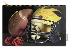 Stan Edwards's Autographed Helmet With Roses Carry-all Pouch