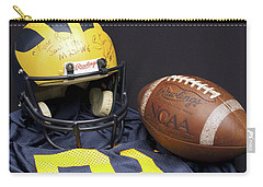 Stan Edwards's Autographed Wolverine Helmet Carry-all Pouch