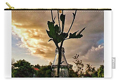 Stand Still Flowers Carry-all Pouch by Loly Lucious