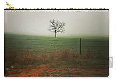Standing Alone, A Lone Tree In The Fog. Carry-all Pouch