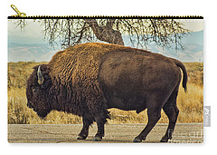 Standing Buffalo Carry-all Pouch by Steven Parker