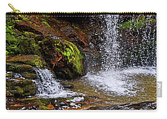 Standing In Motion - Brasstown Falls 011 Carry-all Pouch by George Bostian