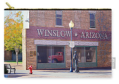 Carry-all Pouch featuring the photograph Standing On The Corner by AJ Schibig