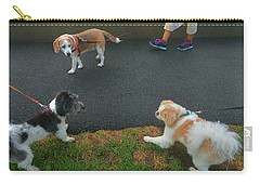 Carry-all Pouch featuring the photograph Standoff by Roger Bester