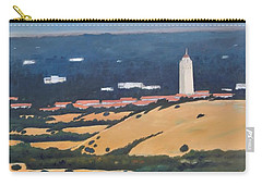 Carry-all Pouch featuring the painting Stanford From Hills by Gary Coleman