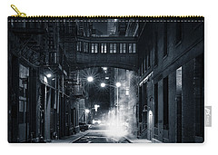 Staple Street Skybridge By Night Carry-all Pouch by Mihai Andritoiu