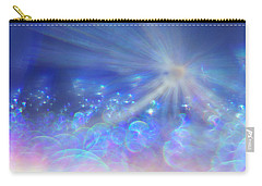 Carry-all Pouch featuring the photograph Star And Bubbles by Greg Collins