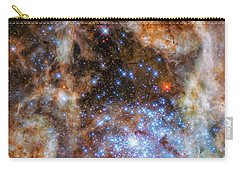 Carry-all Pouch featuring the photograph Star Cluster R136 by Marco Oliveira