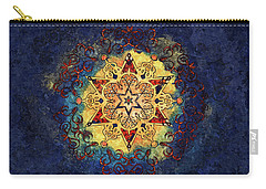 Star Shine Blue And Gold Carry-all Pouch