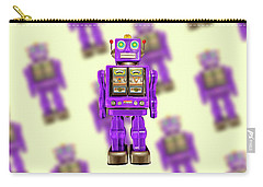 Star Strider Robot Purple Pattern Carry-all Pouch by YoPedro