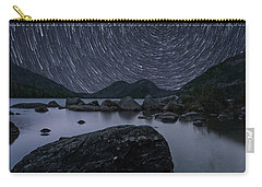 Star Trails Over Jordan Pond Carry-all Pouch