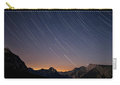 Star Trails Over The Apuan Alps Carry-all Pouch