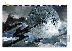 Star Trek Into Darkness, Original Mixed Media Carry-all Pouch by Thomas Pollart