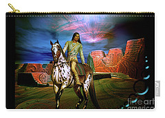 Carry-all Pouch featuring the digital art Star Walker by Shadowlea Is