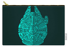 Star Wars Art - Millennium Falcon - Blue 02 Carry-all Pouch