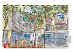 Starbucks Coffee In San Fernando Rd And Palms, Burbank, California Carry-all Pouch