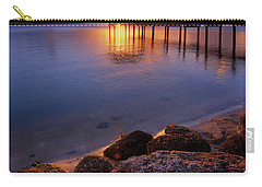 Starburst Sunset Over House Of Refuge Pier In Hutchinson Island At Jensen Beach, Fla Carry-all Pouch by Justin Kelefas