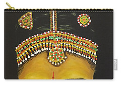 Carry-all Pouch featuring the painting Stare by Brindha Naveen