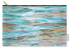 Carry-all Pouch featuring the painting Starfish Fishing by Linda Olsen
