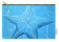 Starfish In Blue Carry-all Pouch